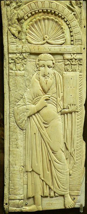 Saint Paul, Byzantine ivory relief, 6th – earl...
