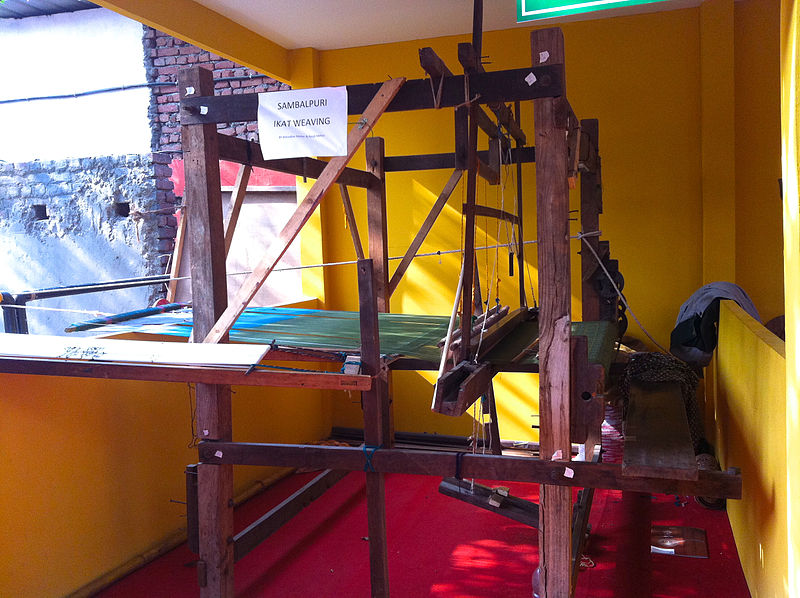 File:Sambalpuri Ikat weaving loom (Tanta) from Odisha.jpg
