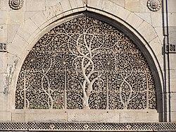 Celosía en piedra de la mezquita de Sidi Saiyad.