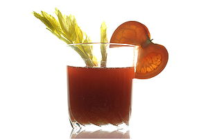 Tomato Juice in a glas, decorated with tomato ...