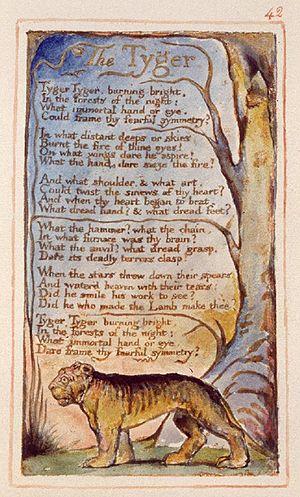 """William Blake's """"The Tyger,"""" publish..."""