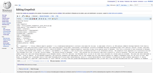 A screenshot of the MediaWiki editing interfac...