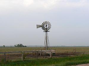 Wind powered well in Nebraska