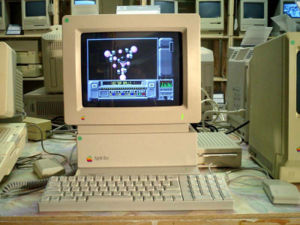 The Apple II GS setup, with keyboard and mouse...