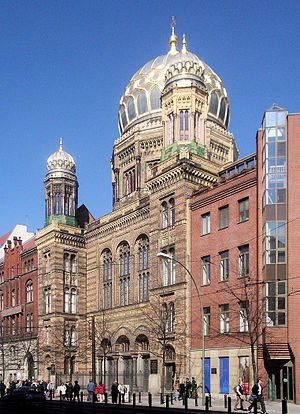 English: 2005 Photo of Neue Synagoge by Eduard...