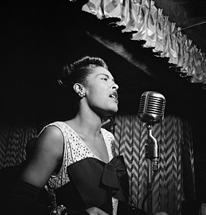 Billie Holiday, Downbeat, New York.