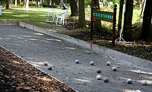 English: bocce court