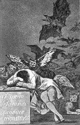 Caprichos Nr 43, Der Traum, der Vernunft erzeugt