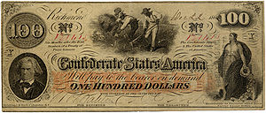 A One Hundred Dollar Confederate States of Ame...