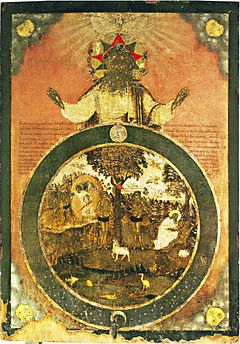 Creation of world icon (Russia, 18 c.)