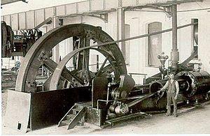 Deutsch: Erste Dampfmaschine in der Dillinger ...