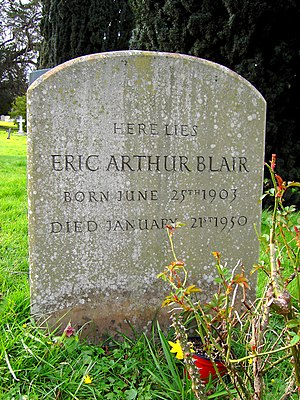 English: Grave of Eric Arthur Blair (George Or...