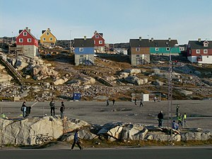 English: The soccer field in Ilulissat, Greenl...