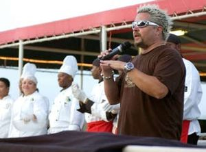 Food Network star Guy Fieri introduces the tea...