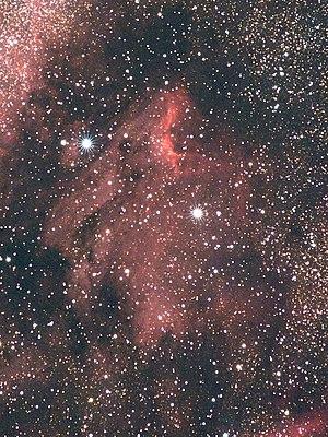 Object: The Pelican Nebula (IC 5070) in Cygnus...