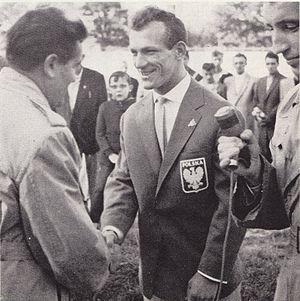 English: Kazimierz Paździor, Polish Boxer, Oly...