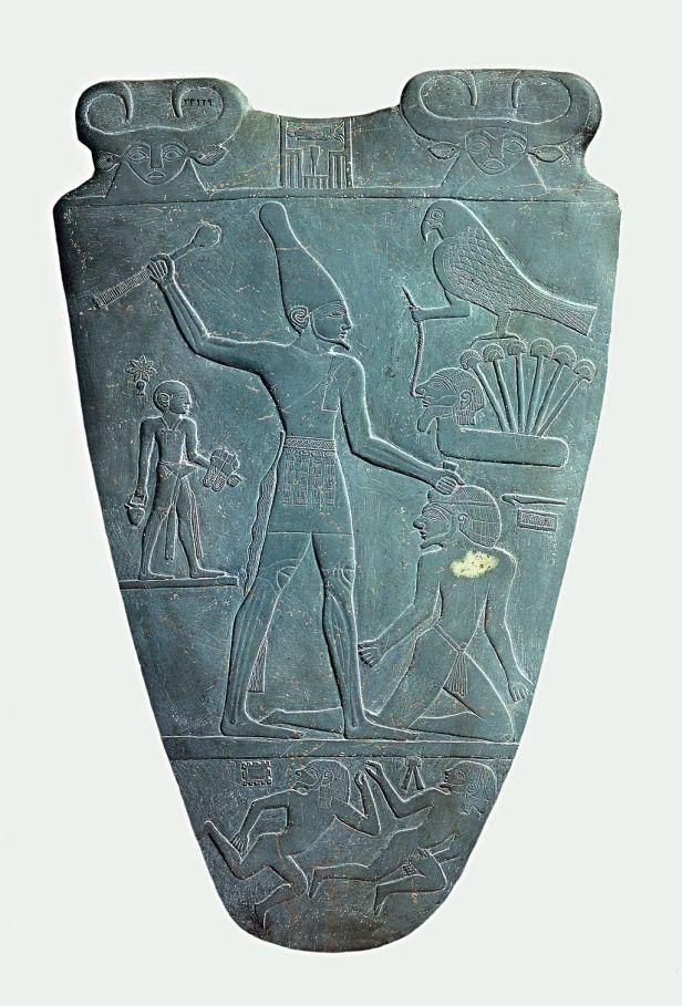Narmer Palette smiting side
