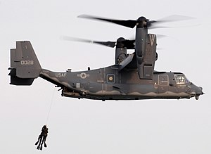 English: US Navy SEALs training with US Air Fo...