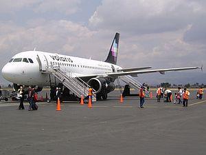 A Volaris Airbus A319 at Toluca Airport.