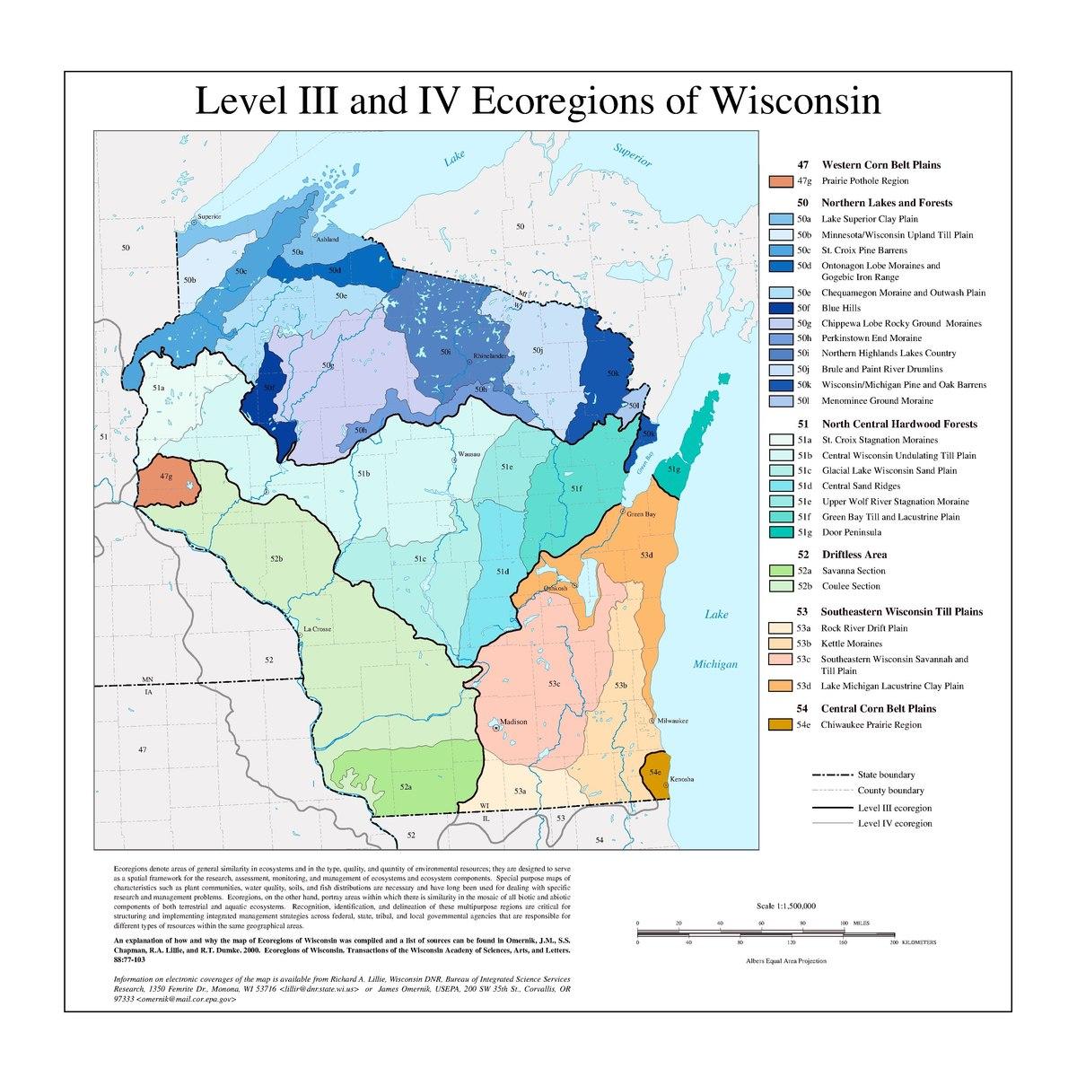 List Of Ecoregions In Wisconsin