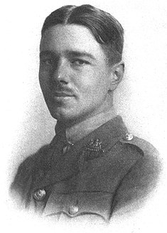 A plate from his 1920 Poems by Wilfred Owen, depicting him