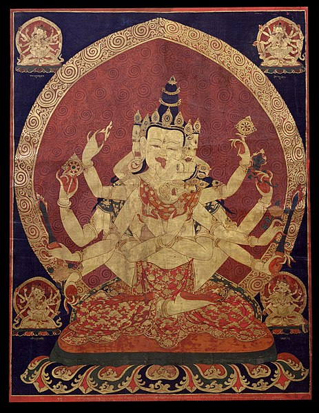 File:17th century Central Tibeten thanka of Guhyasamaja Akshobhyavajra, Rubin Museum of Art.jpg
