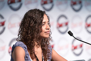English: Angel Coulby and Katie McGrath's lect...