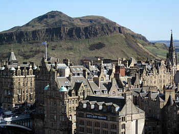 English: Arthur's Seat in Edinburgh in Scotlan...