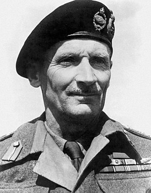 British General Bernard Law Montgomery, victor...