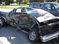 Result of a serious automobile accident.