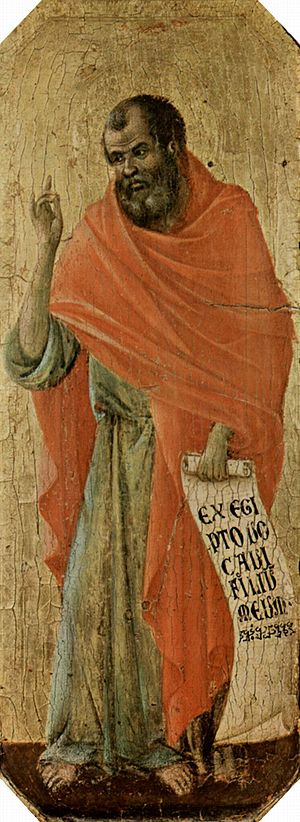The Prophet Hosea, by Duccio di Buoninsegna, i...