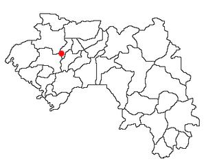 Lélouma, Guinea Location Map; created with the...