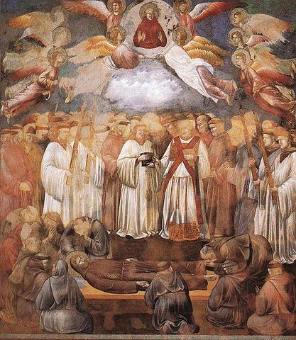 Morte di San Francesco - affresco di Giotto