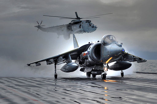 Harriers Leave HMS Ark Royal For Final Time MOD 45152144