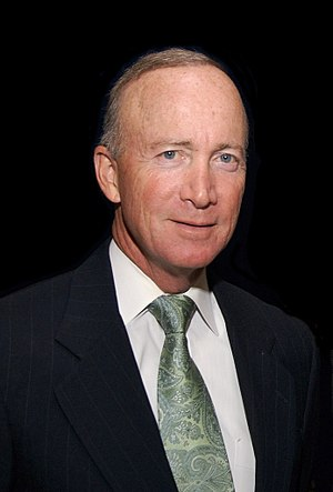 English: Governor Mitch Daniels after the Indi...