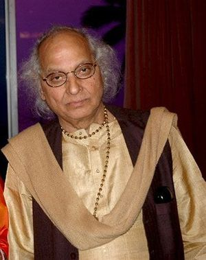 Indian singer Pandit Jasraj at the launch of h...