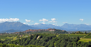 English: The town of Mondovì in Piemonte