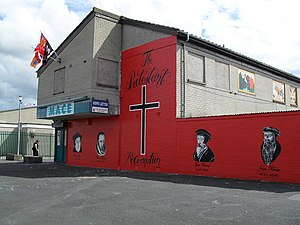 English: Mural of Protestant Reformation, Mour...