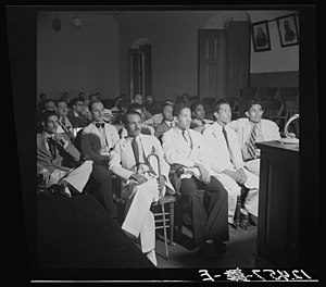English: Defendants during the trial of the Na...