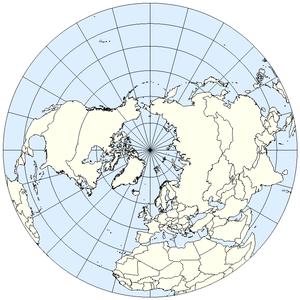 Northern Hemisphere of Earth (Lambert Azimutha...
