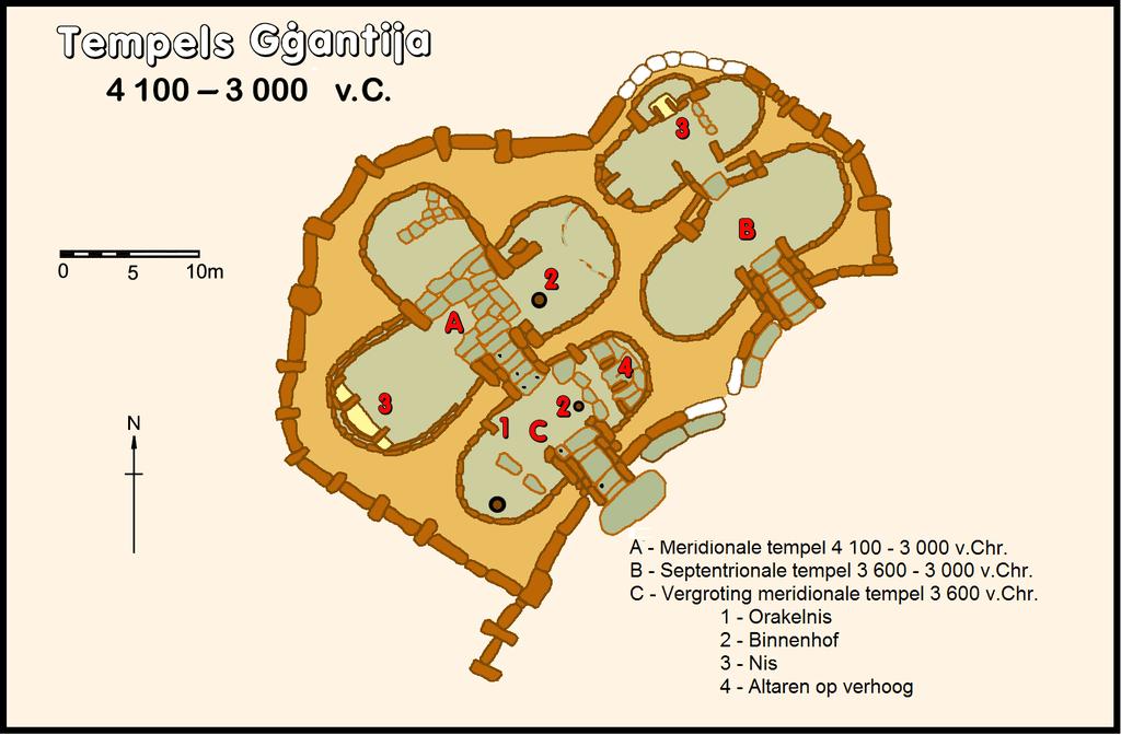Grundriss des Ġgantija-Tempel