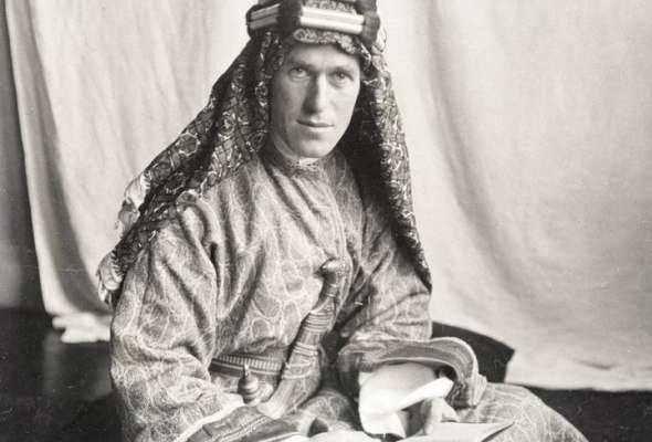 T.E. Lawrence With Lawrence in Arabia