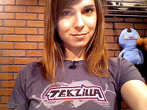 English: Veronica Belmont, host of Tekzilla on...