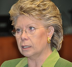 English: European Commissioner Viviane Reding