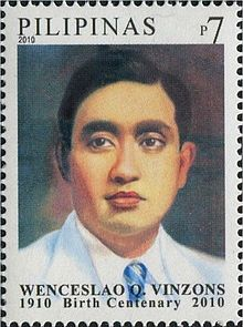 Wenceslao Vinzons 2010 stamp of the Philippines.jpg