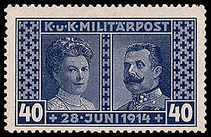 English: Postage stamp of Austro-Hungary for B...
