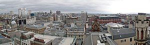 Glasgow city centre panorama from Lighthouse t...