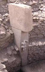 The sculpture of an animal at Gobekli Tepe, cl...