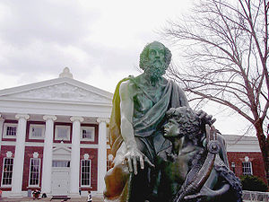 Homer statue at the University of Virginia