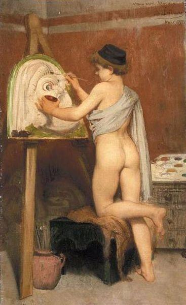 File:Jules LeFebvre - Jeune peintre des masque Grec, 1865.jpg